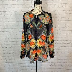 Cabi / Sheer Amour Blouse / Size Small / 3072